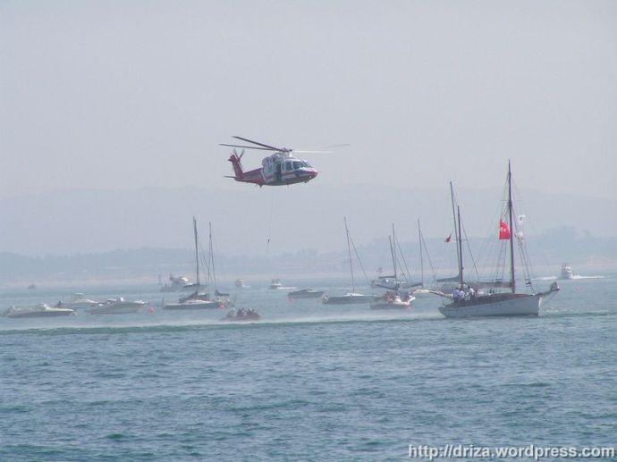 Demostración de rescate con el helicóptero de Protección Civil (112)