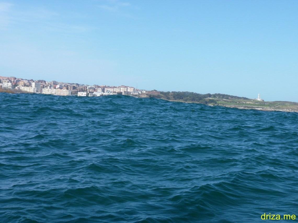Aquí se aprecia la ligera mar de fondo