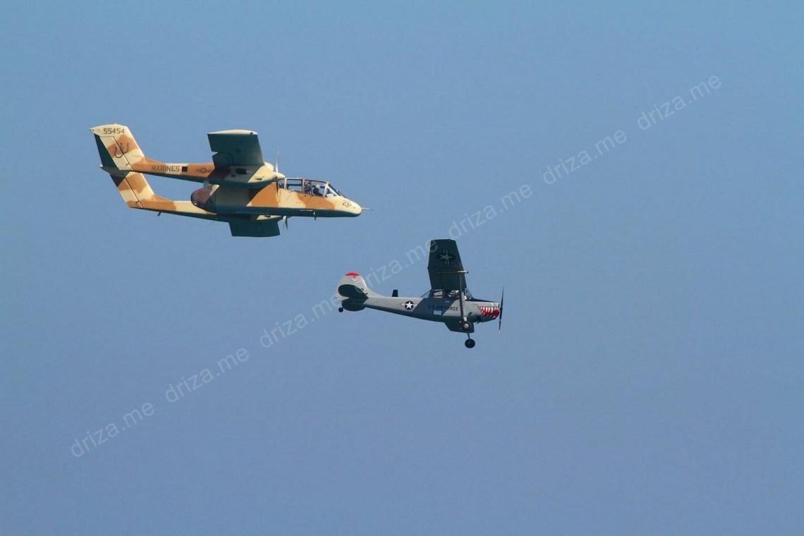 OV 10 BRONKO junto a la Cessna L19 Bird Dog